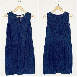 Boden Denim Chambray Sleeveless Dress Size 6